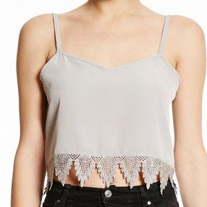 BCBG Crochet Lace Bottom Cami NWT Sz Choice